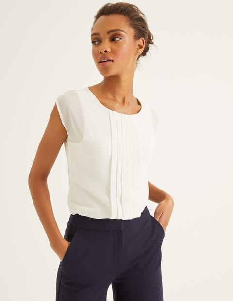 Dakota Jersey Top Ivory Women Boden, Ivory