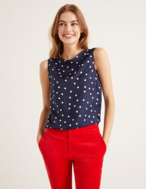 Adriana Top Navy Women Boden, Navy
