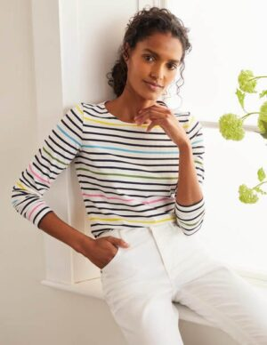 Long Sleeve Breton Multi Women Boden, Multi