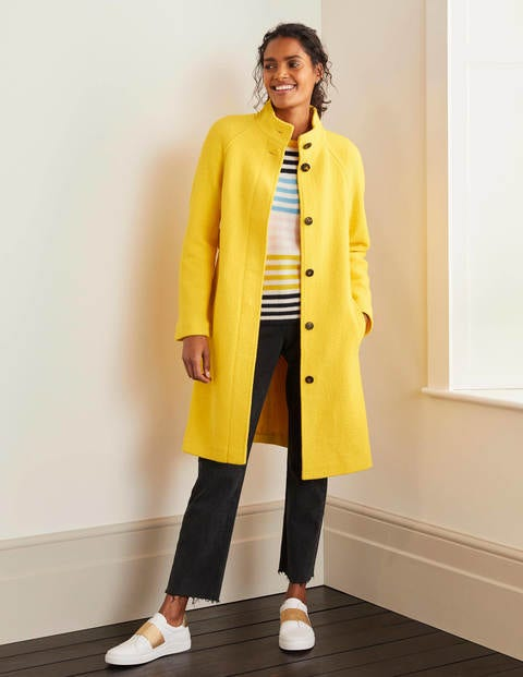 Cartwright Coat Yellow Women Boden, Yellow