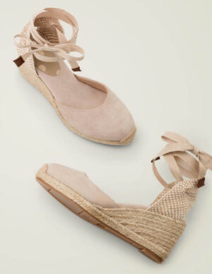 Cassie Espadrille Wedges Natural Women Boden, Beige