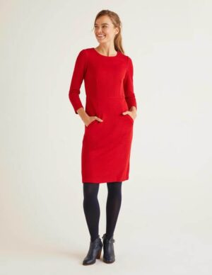 Agnes Jacquard Dress Red Women Boden, Red