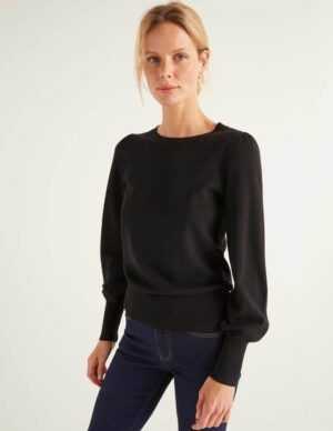 Antonia Jumper Black Women Boden, Black