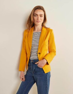 Brotherton Jacket Yellow Women Boden, Yellow