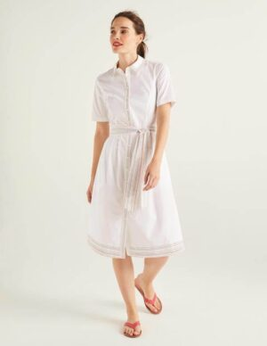 Anastasia Shirt Dress White Women Boden, White