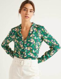Sierra Blouse Green Women Boden, Green