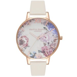 Enchanted Garden Watch - Nude & Rose Gold