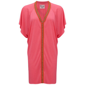 Mini Abaya Dress - Hot Pink