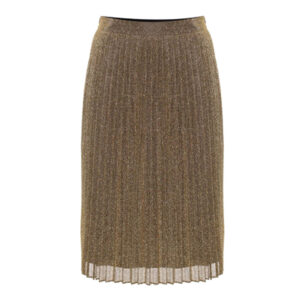 Malvina Pleated Skirt - Gold