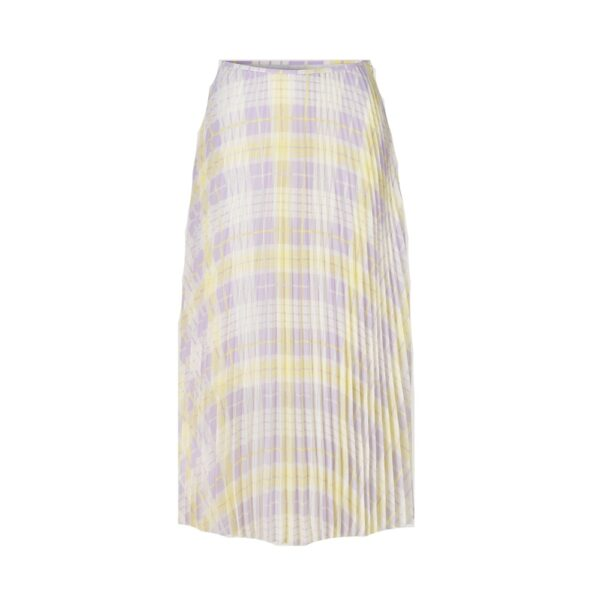 Juliette Pleated Midi Skirt - Check Me Out