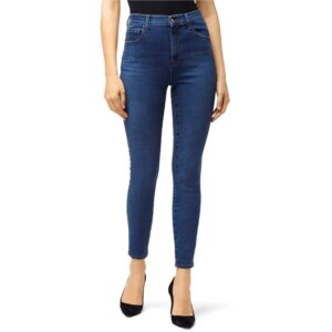Leenah Super High Rise Ankle Skinny Jeans - Cyber