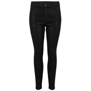 Alana High Rise Coated Skinny Jeans - Fearful