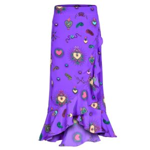 Mia Wrap Skirt - Purple