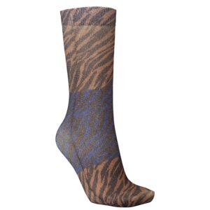 Dagmar Zebra Socks - Brownish