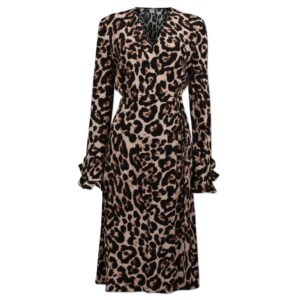Adelota Wrap Dress - Wild Leopard