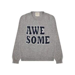 Awesome Cashmere Crew Jumper - Mid Grey