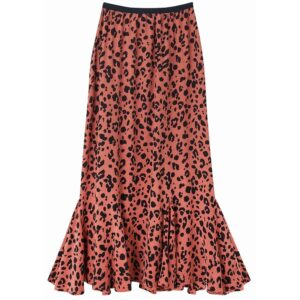 Ford Skirt - Rose Leopard