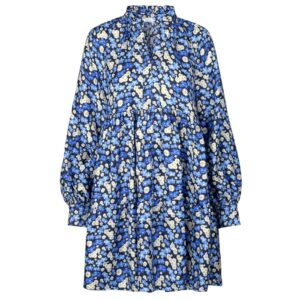 Jasmine Silk Dress - Forget Me Not