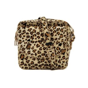 Cosmo Square Cross Body Bag - Leopard