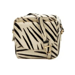 Cosmo Square Cross Body Bag - Zebra