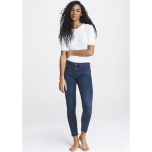 Cate Mid Rise Ankle Skinny Jeans - Dahlia