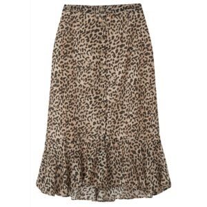 Jackie Silk Mix Skirt - Vintage Animal