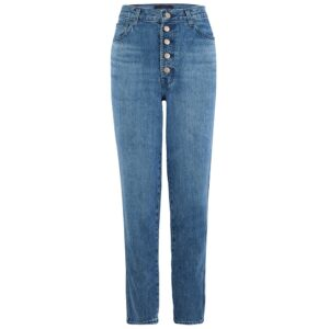 Heather High Rise Button Fly Slim Straight Jeans - Varsha Raze