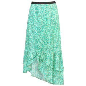 Keira Printed Silk Blend Maxi Skirt - Animal Spearmint