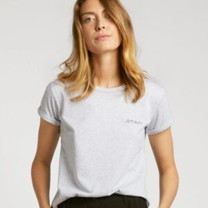 Amour Organic GOTS Cotton Tee - Light Heather Grey