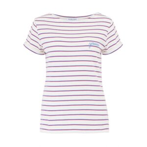 Sailor Short Sleeve Cotton Yes Tee - Ivory Candy Pink