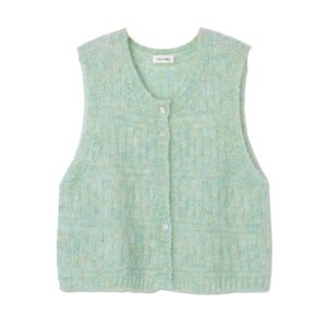 Dolsea Knitted Cardigan - Green Water Melange
