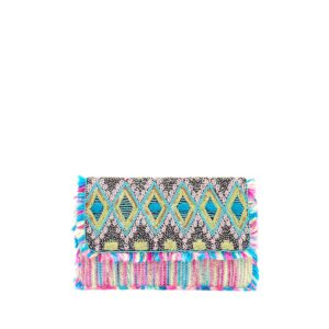Beaded Sequin Tassel Clutch - Multi