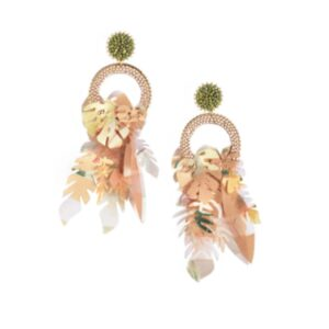 Amazonas Earrings - Olive Pearl & White