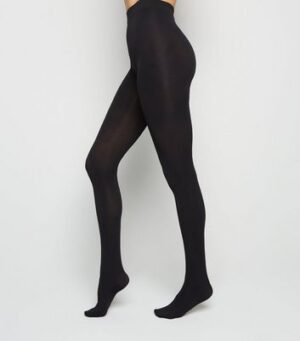 Black Premium 120 Denier Tights New Look