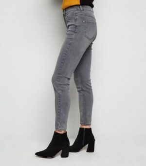 Pale Grey Super Soft Super Skinny India Jeans New Look
