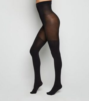 Black 100 Denier Stretch Shaping Tights New Look