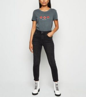 Petite Black 'Lift & Shape' Skinny Jeans New Look