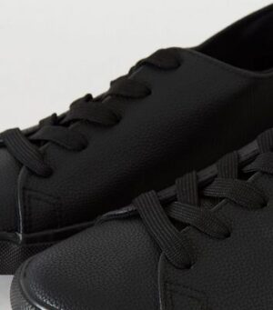 Wide Fit Leather-Look Lace Up Trainers New Look