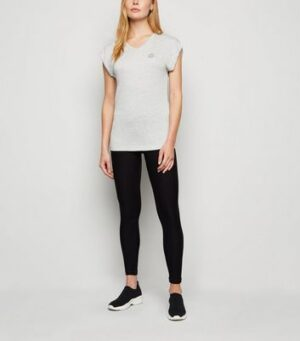 GymPro Grey Slouchy Sports T-Shirt New Look