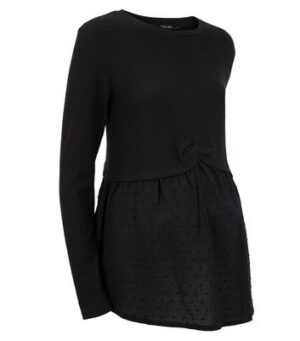 Maternity Black 2 in 1 Top New Look