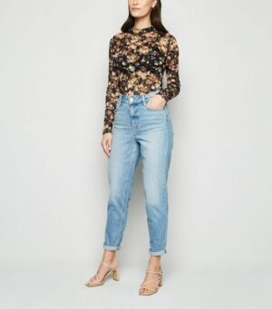 Urban Bliss Black Floral Lace Bodysuit New Look