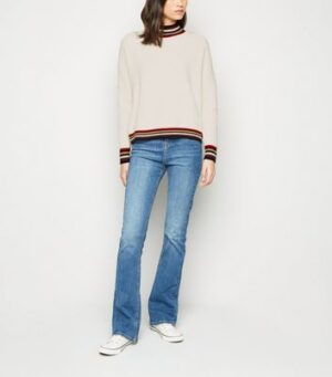 Apricot Cream Stripe Trim Jumper New Look