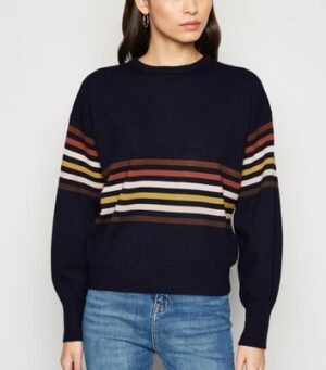 Apricot Navy Multi Stripe Jumper New Look