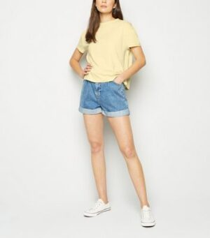 Pale Yellow Boxy Cotton T-Shirt New Look