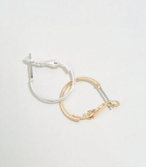 2 Pack Multicoloured Mini Hoop Earrings New Look