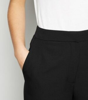 Black Wide Leg Suit Trousers New Look