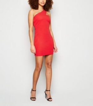 AX Paris Red One Shoulder Bodycon Dress New Look
