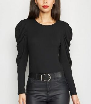 AX Paris Black Puff Sleeve Bodysuit New Look