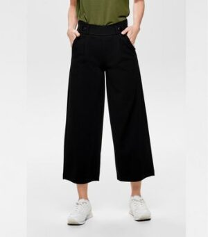 JDY Black Belted Cropped Trousers New Look
