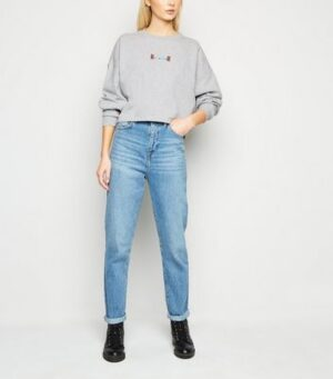 Noisy May Pale Grey Rawr Slogan Sweatshirt New Look